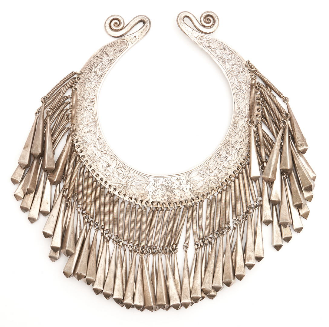 Lot 1204: Silver Hmong Ceremonial Wedding Necklace