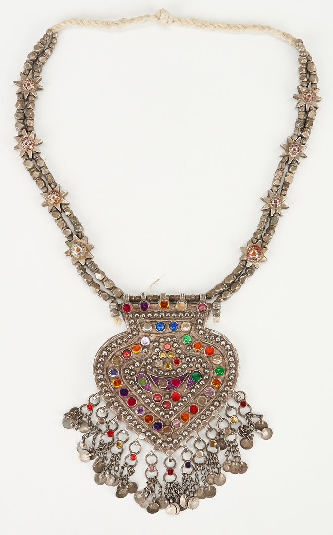 Lot 1205: 4 Afghani Tribal Silver Jewelry Items