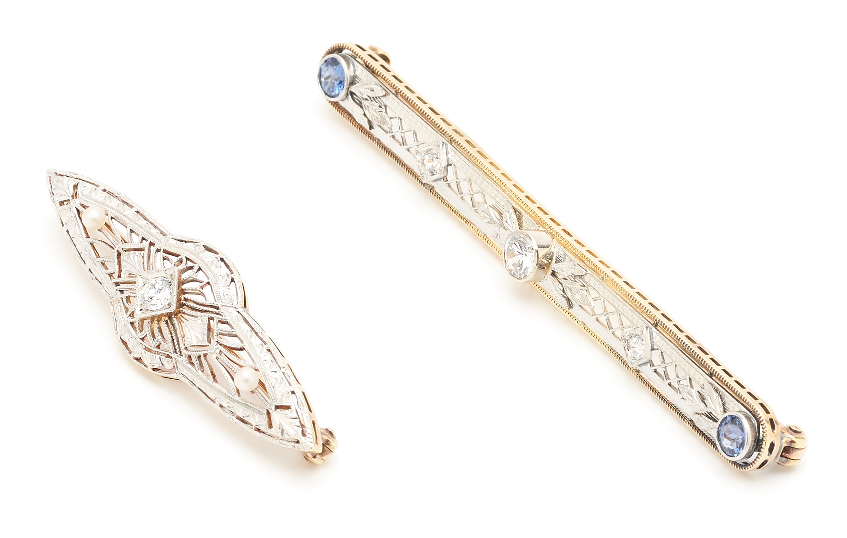 Lot 1207: 2 Ladies Art Deco Style Brooches