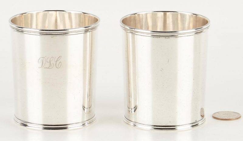 Lot 120: 2 KY Coin Silver Julep Cups, T. Ayres