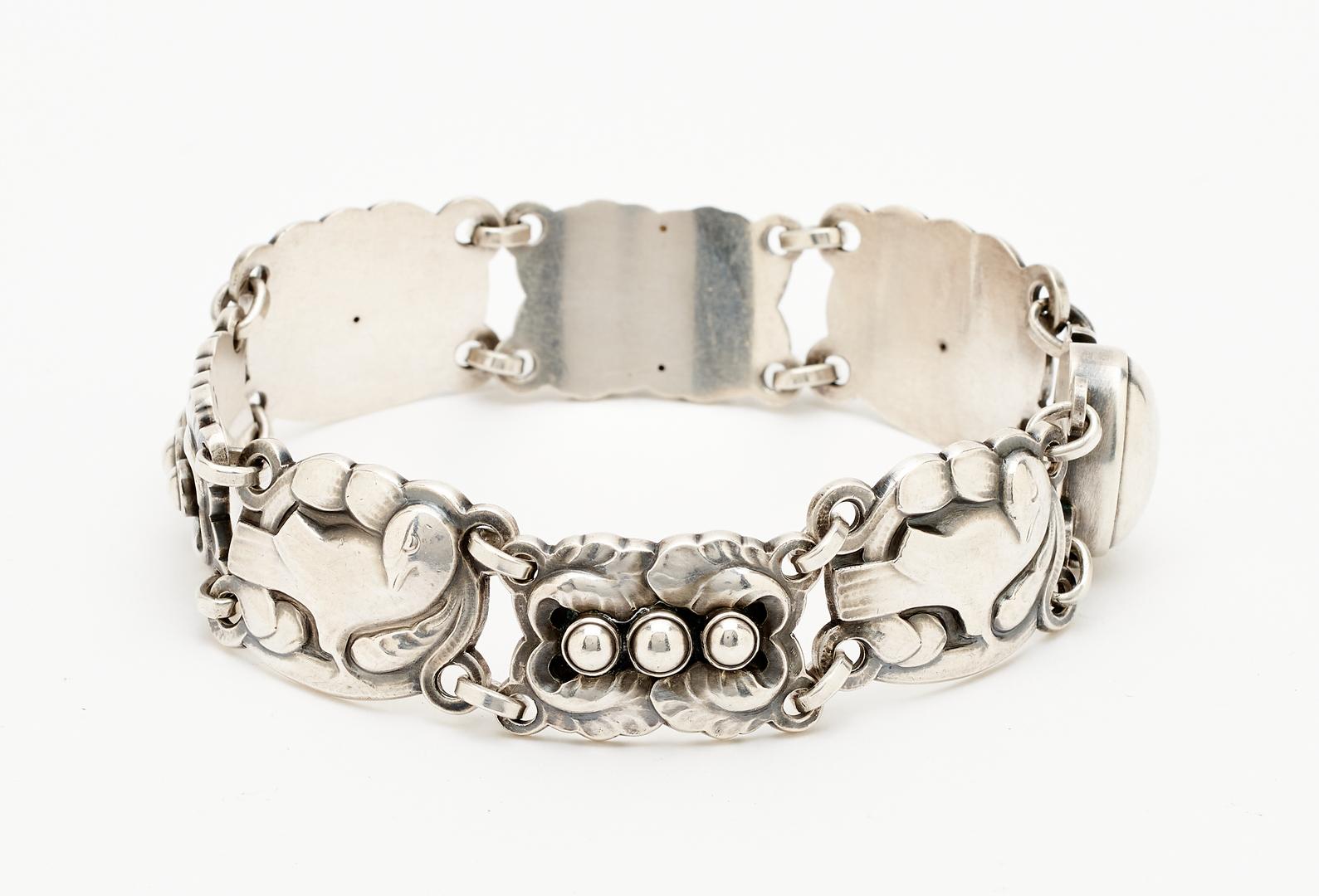 Lot 1211: Georg Jensen Sterling Silver Dove Bracelet