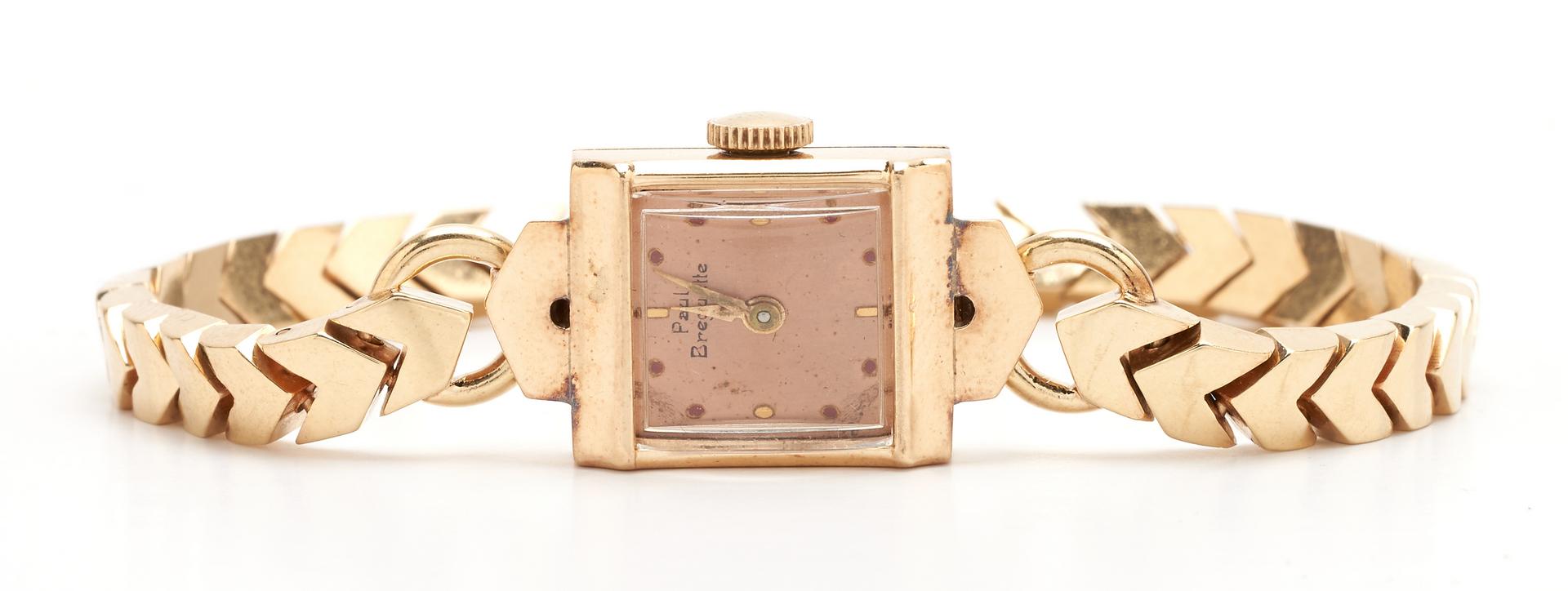 Lot 1214: Ladies 14K Paul Breguette Watch