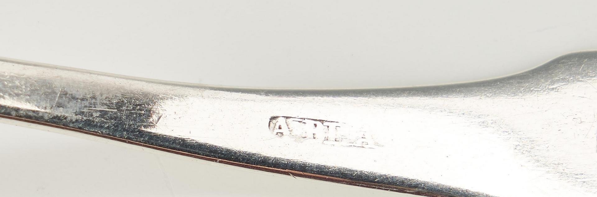 Lot 121: Asa Blanchard KY Coin Silver Tongs & Cream Ladle, 2 items
