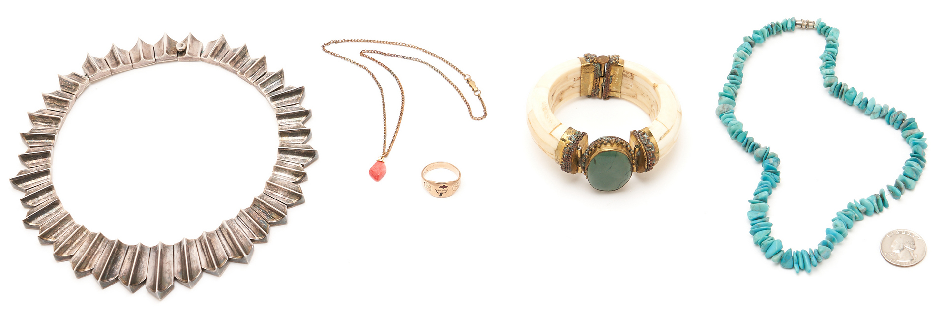 Lot 1220: 5 Assembled Jewelry items, incl. Sterling & Turquoise