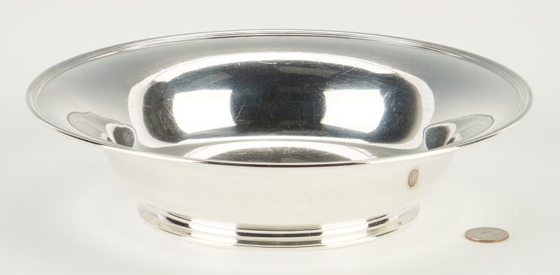 Lot 1221: Tiffany & Co. Sterling Silver Footed Bowl