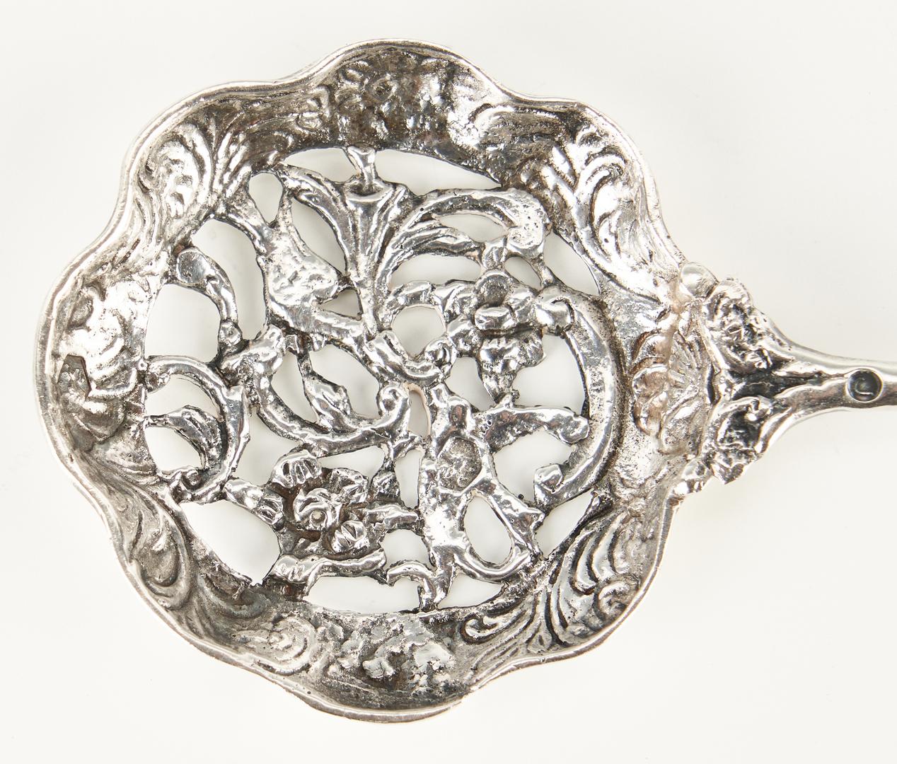 Lot 1223: Tiffany & Co. Strawberry Pattern Casserole Spoon, 3 items