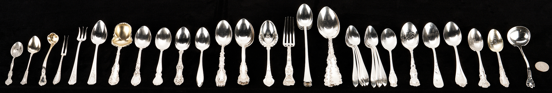 Lot 1225: 39 Sterling Silver Flatware Pieces, 40 items
