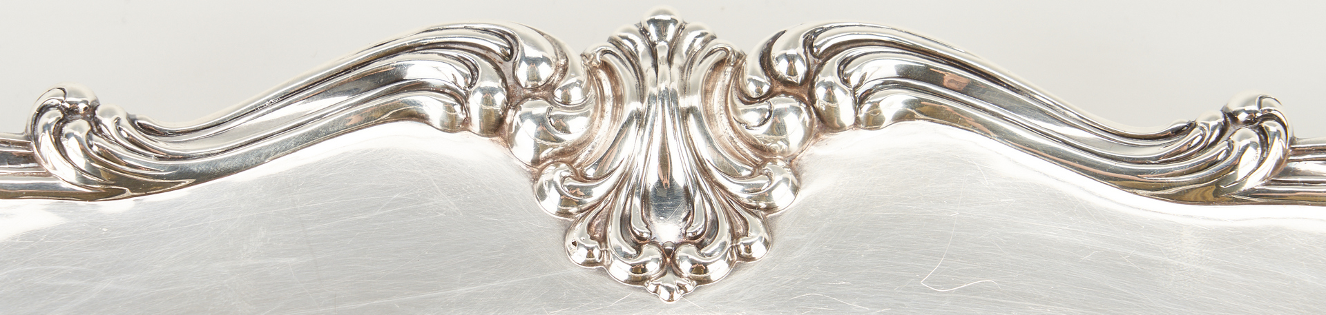 Lot 1226: Whiting Oval Sterling Silver Tray w/ Rococo Border
