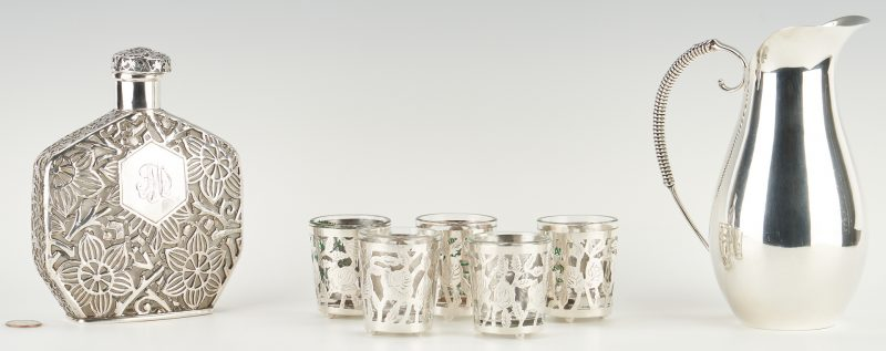 Lot 1227: Mexican and French Sterling Silver, 12 items