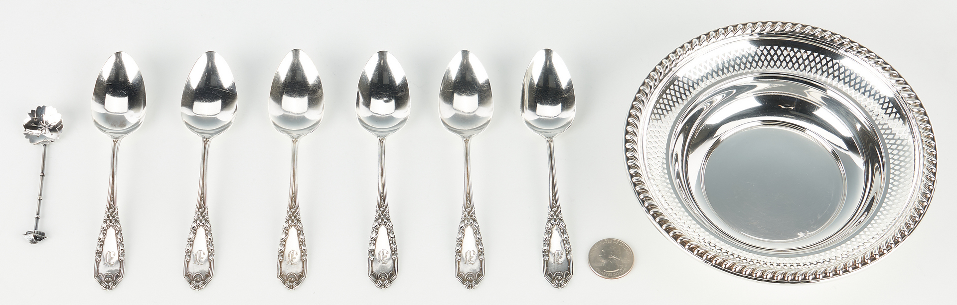 Lot 1233: 12 pcs. Assorted Sterling Silver, incl. Goblets