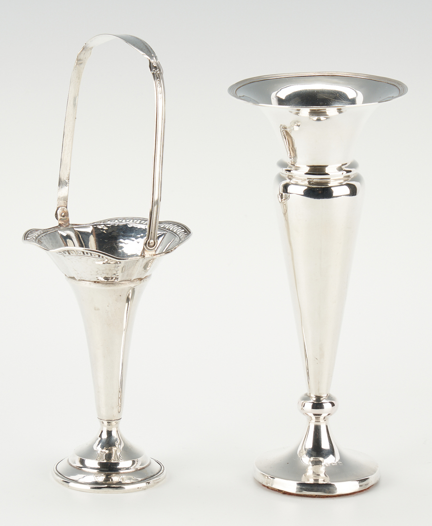 Lot 1234: 9 Pcs. Sterling Silver incl. Vases, Bowls, Shakers