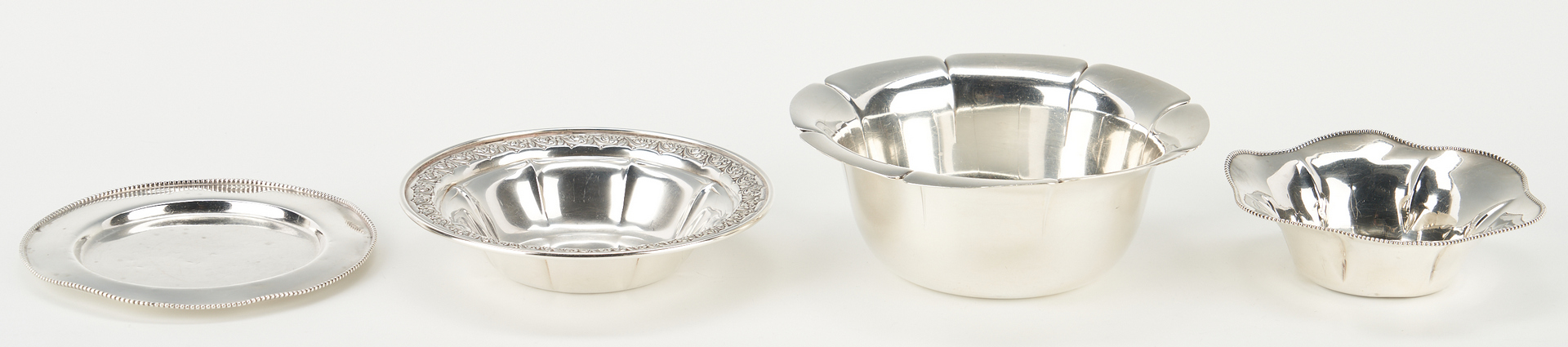 Lot 1235: English & American Sterling Caster, Bowls and Spoon, 7 items