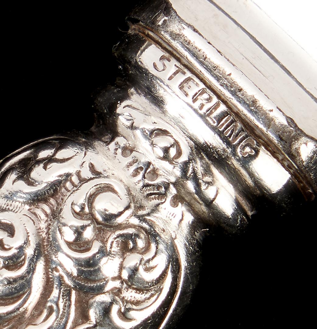 Lot 1236: 21 Pcs. Coin & Sterling Silver Flatware, incl. Moir
