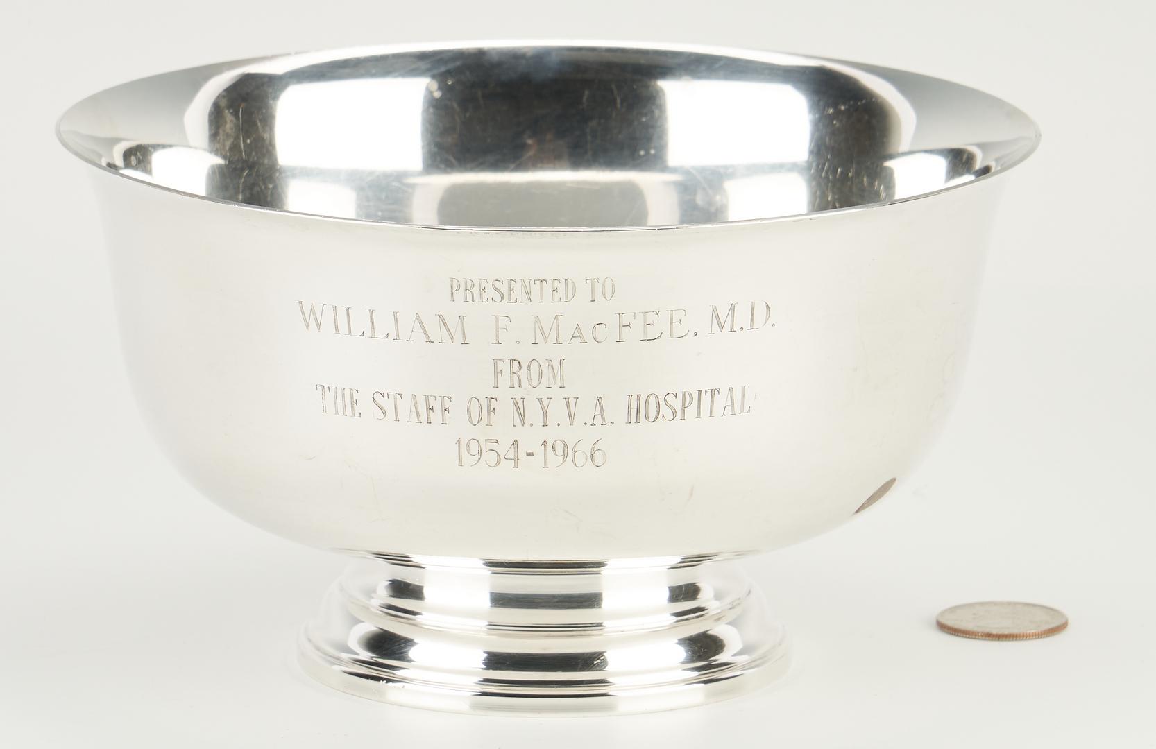 Lot 1239: American Sterling Presentation Bowl