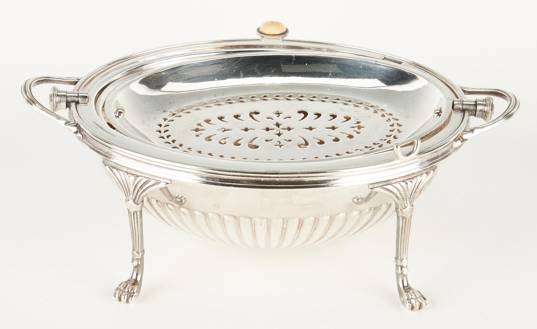 Lot 1242: 12 Sterling Spoons plus plated sugar bowl, server & candlesticks