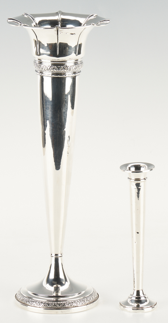 Lot 1243: 8 Pcs. Sterling Silver Hollowware, Weighted Bases