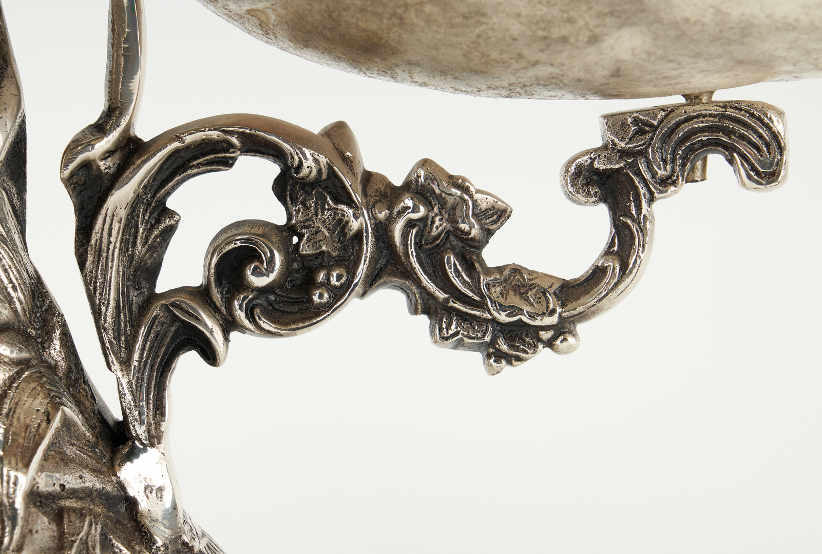Lot 1249: Silverplated Epergne, Cherub and Fairy