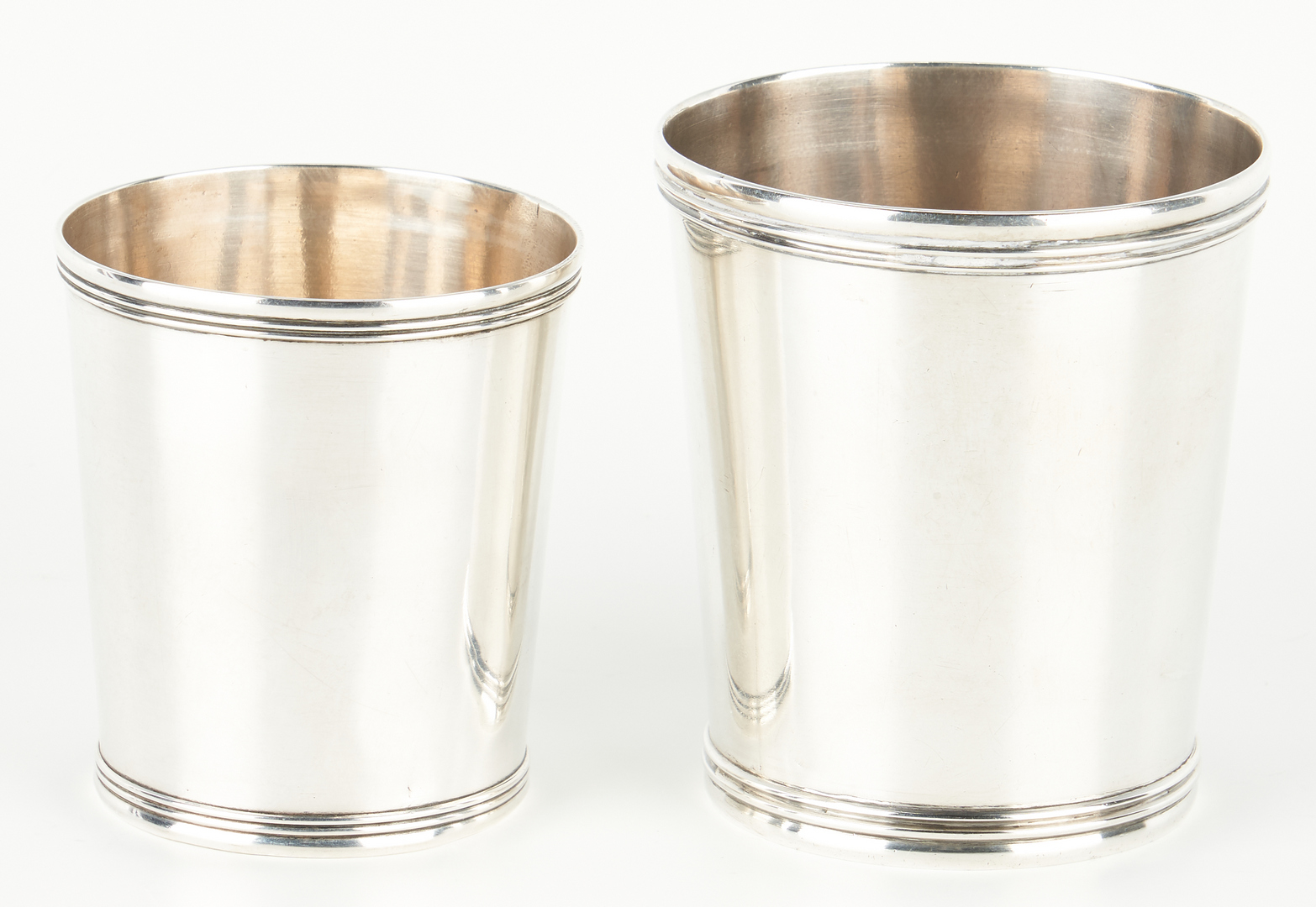 Lot 125: 2 Danville, KY Coin Silver Julep Cups, McConaghy