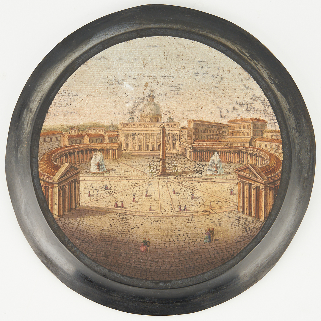 Lot 134: Grand Tour Micromosaic, St. Peters Square