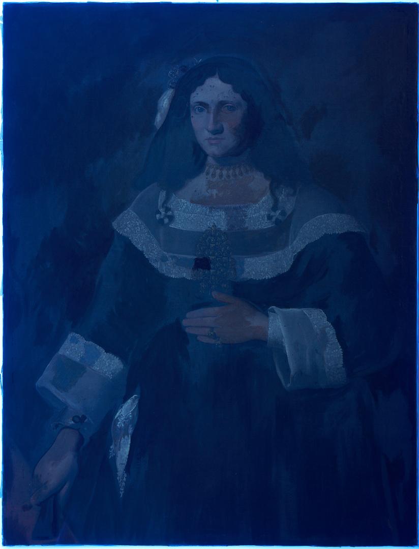 Lot 135: 17th C. Italian School O/C Portrait of a Noblewoman