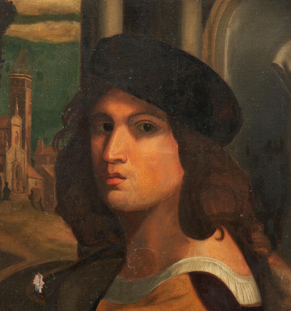 Lot 136: Italian Oil on Canvas Portrait, after Domenico Caprioli