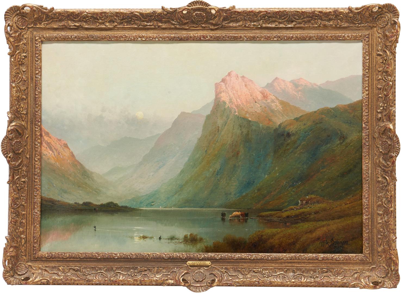 Lot 139: Alfred De Breanski O/C Landscape, Moonrise