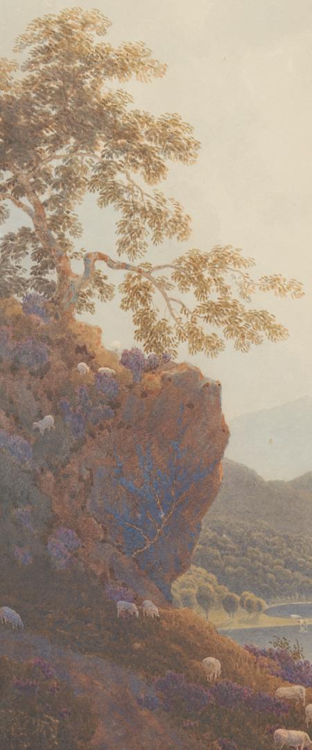 Lot 140: George Fennel Robson Watercolor, Loch Katrine
