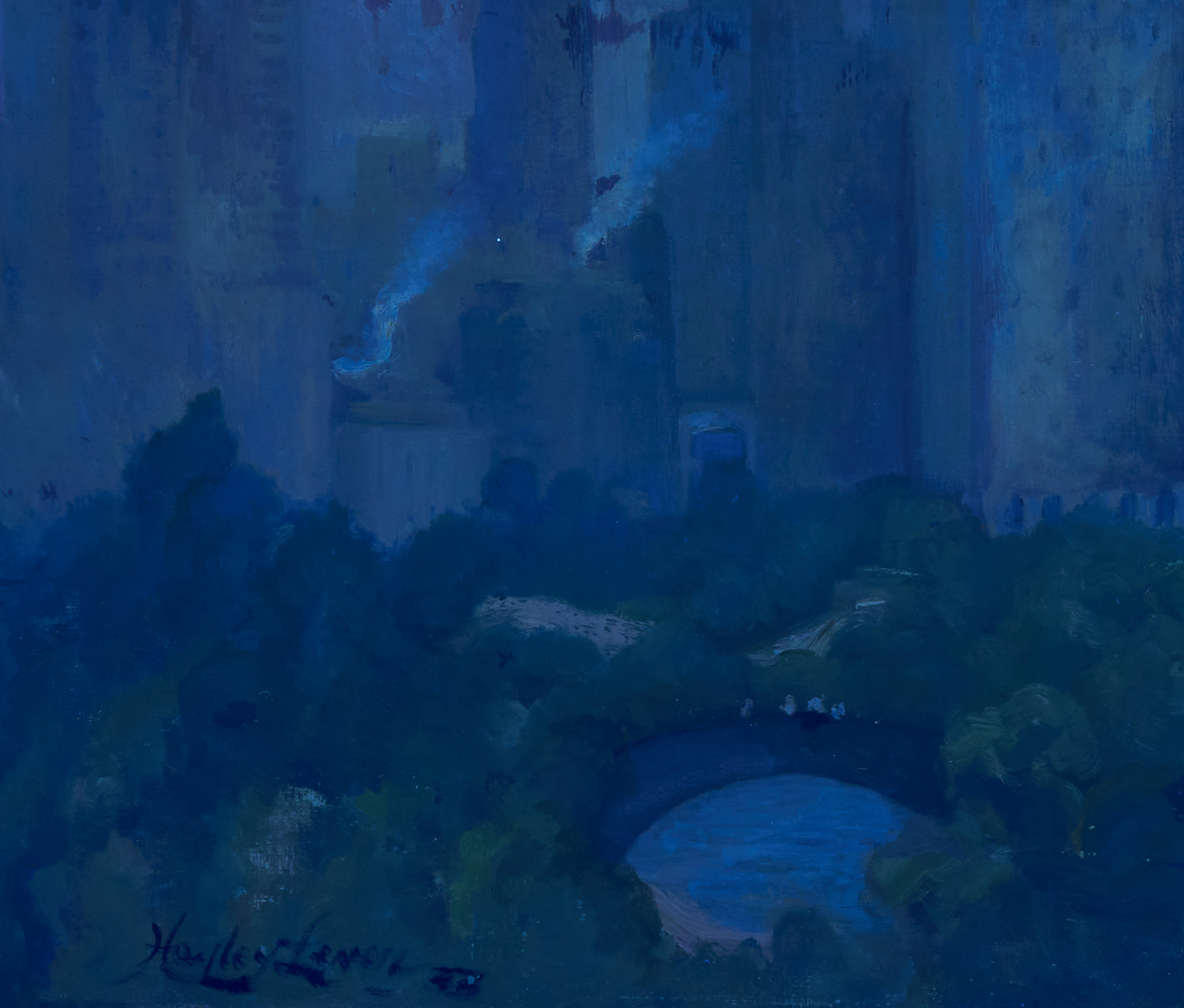 """Lot 144: Hayley Lever O/C, """"Early Morning Central Park"""""""