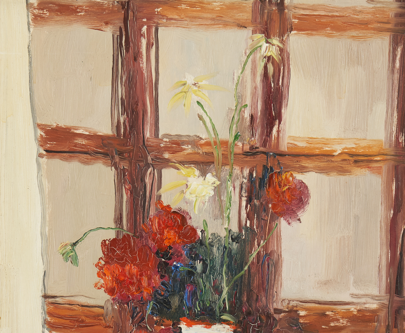 Lot 146: Leon Dabo O/B, Floral Still Life Painting