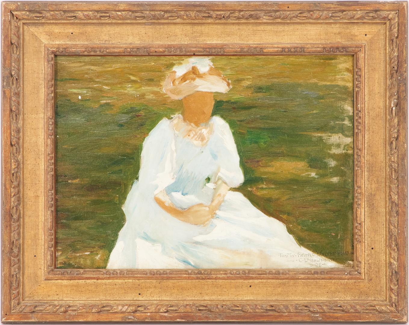 "Lot 147: Charles Hawthorne Impressionist ""Mud Head"" Portrait, Exhibited"