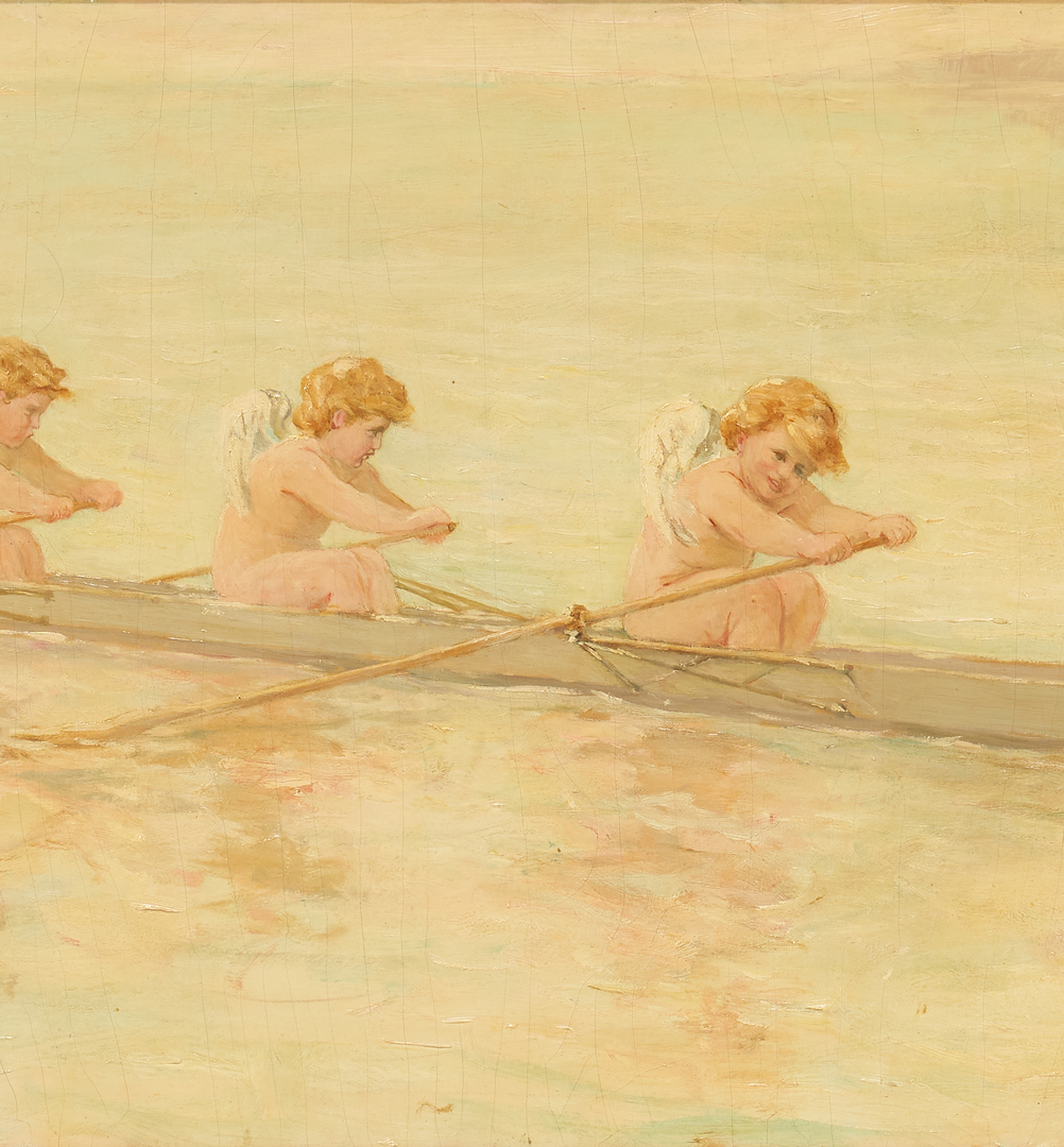 Lot 148: Frederick Stuart Church O/C Painting, Out for Spin