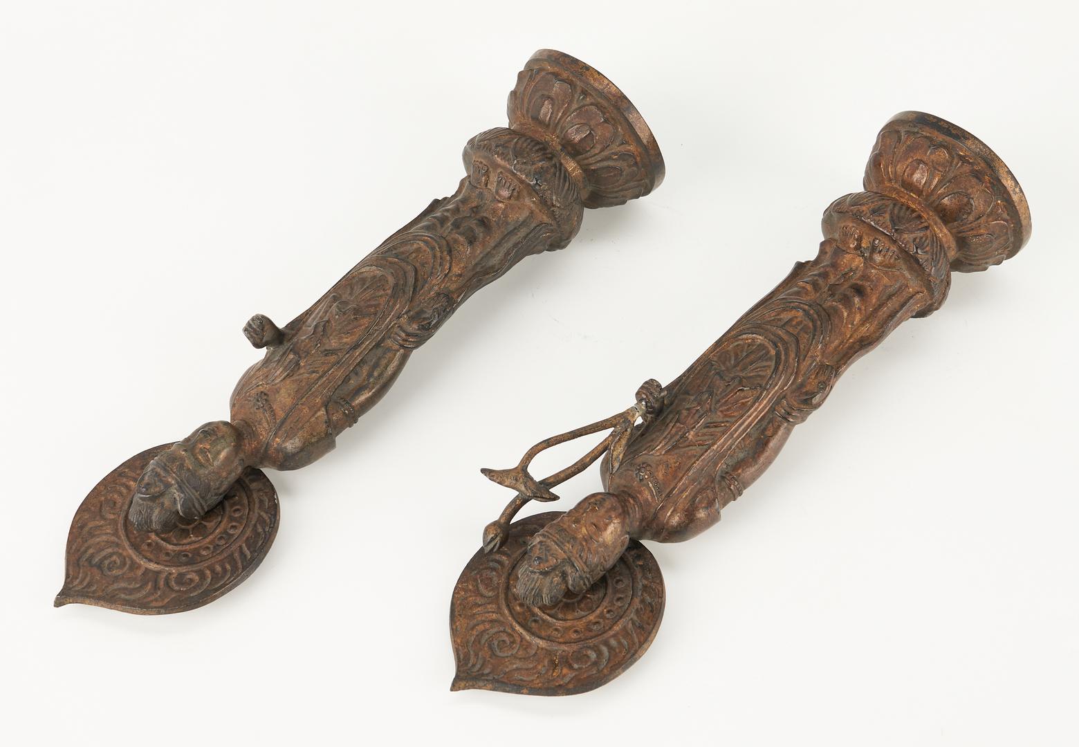 Lot 14: Pair of Asian Bronze Models of Guanyin
