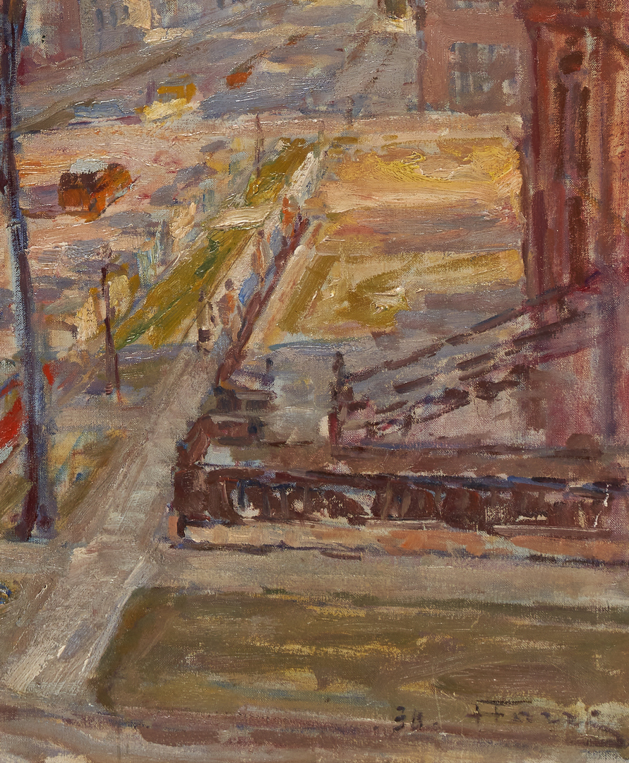 Lot 150: Henri Farre O/C Painting, Chicago Street Scene