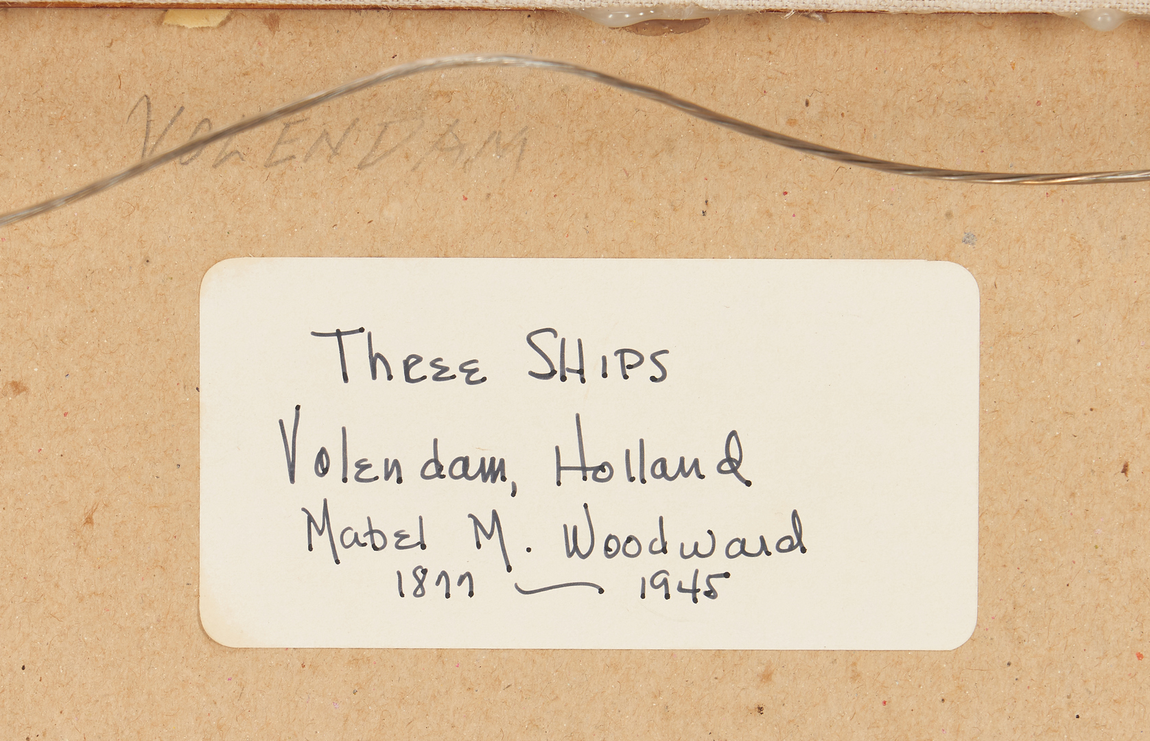 Lot 153: Mabel Woodward Oil Maritime Painting, Three Ships Volendam, Holland