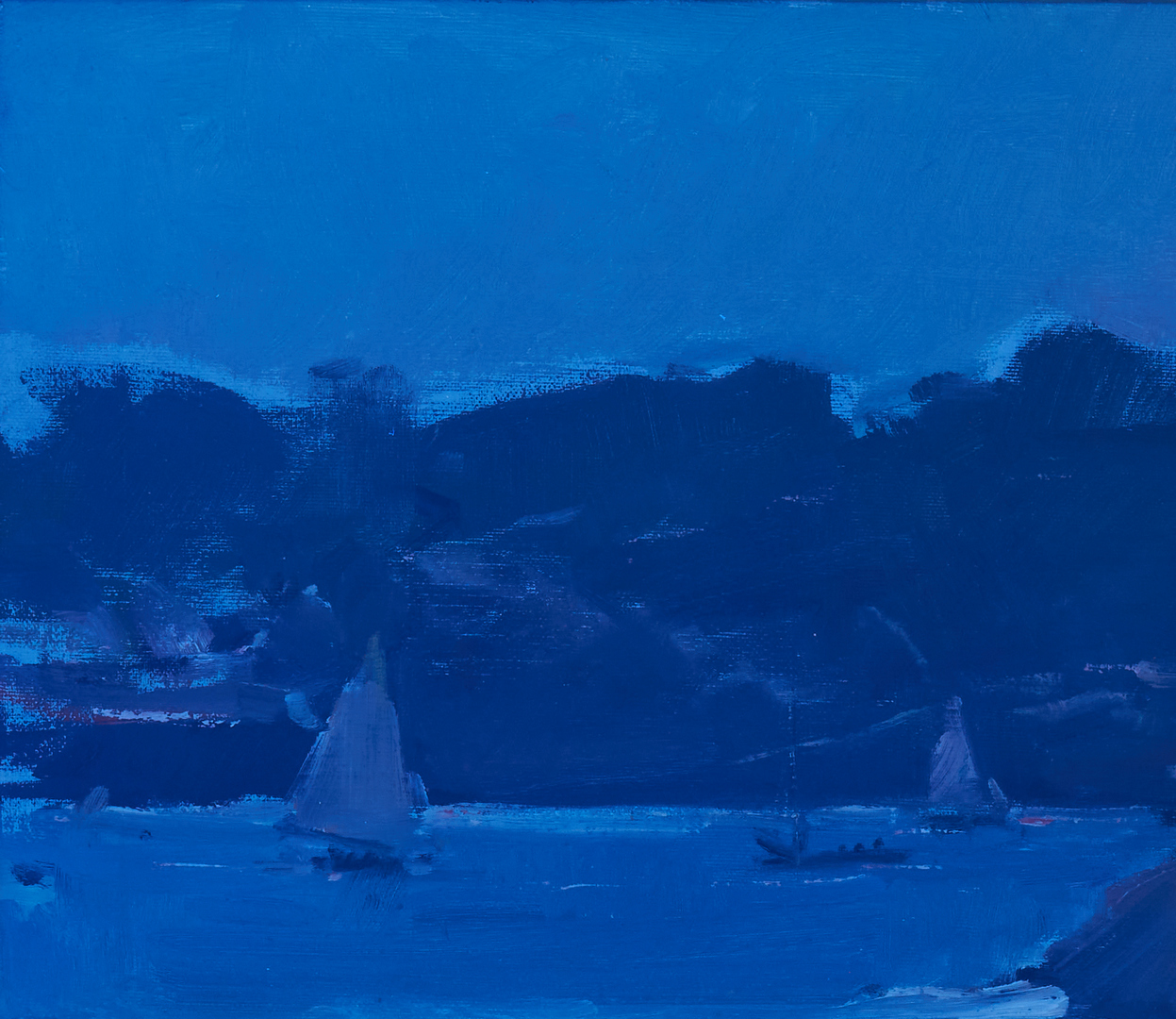 Lot 154: Carl W. Peters O/C Painting, A Quiet Beach