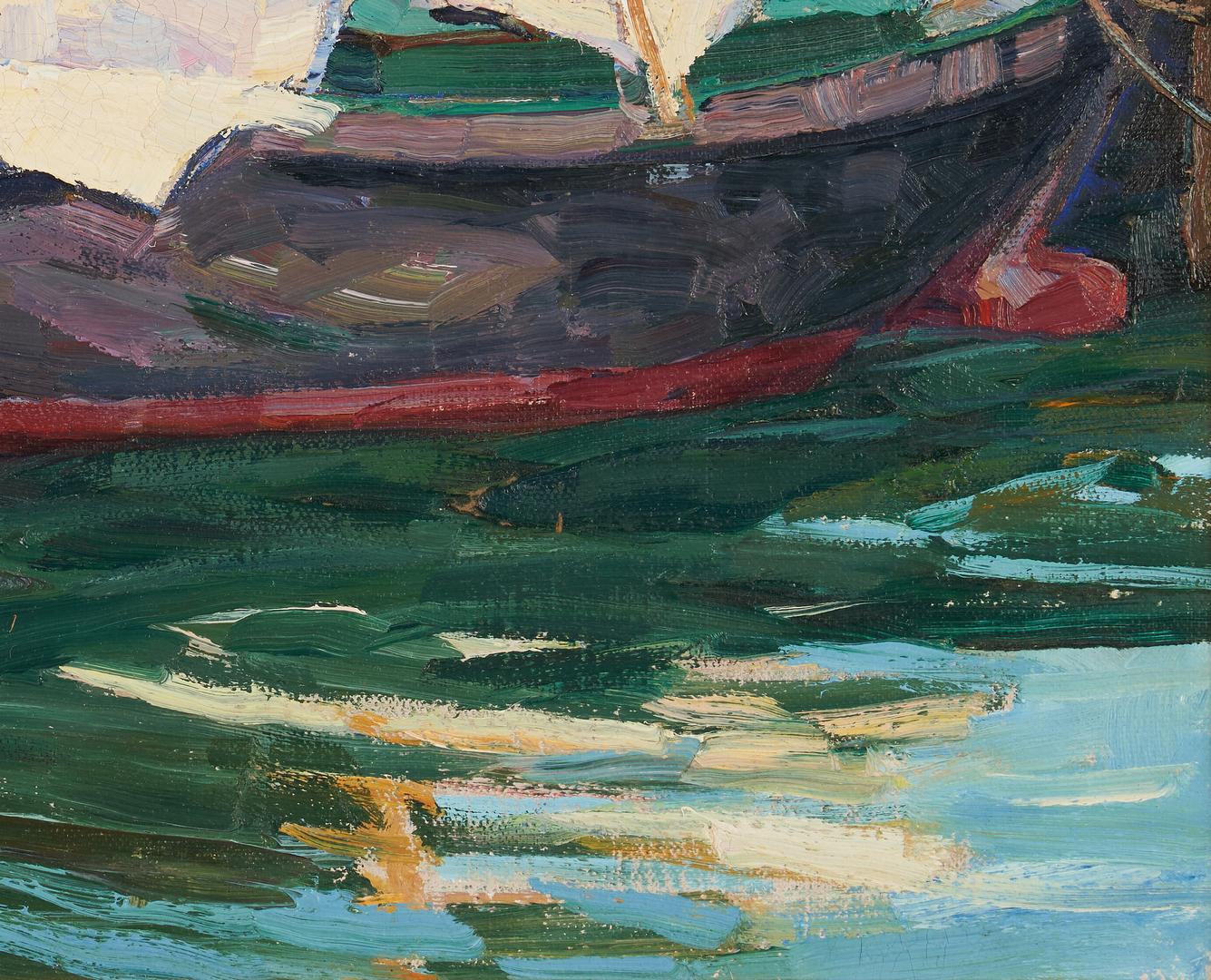 Lot 155: Nellie Knopf O/B Maritime Painting, Sardine Boat