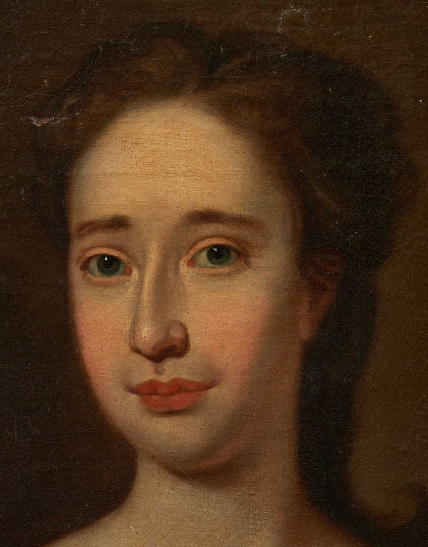 Lot 158: 18th C. American Portrait of a Lady, attrib. R. Feke