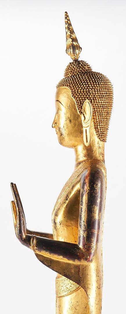 Lot 15: Large Siamese Gilt Buddha