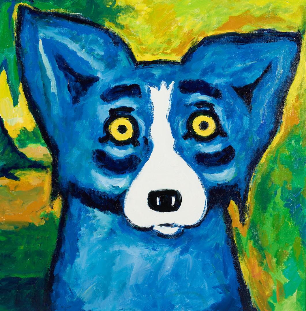 Lot 164: George Rodrigue Blue Dog Acrylic on Canvas