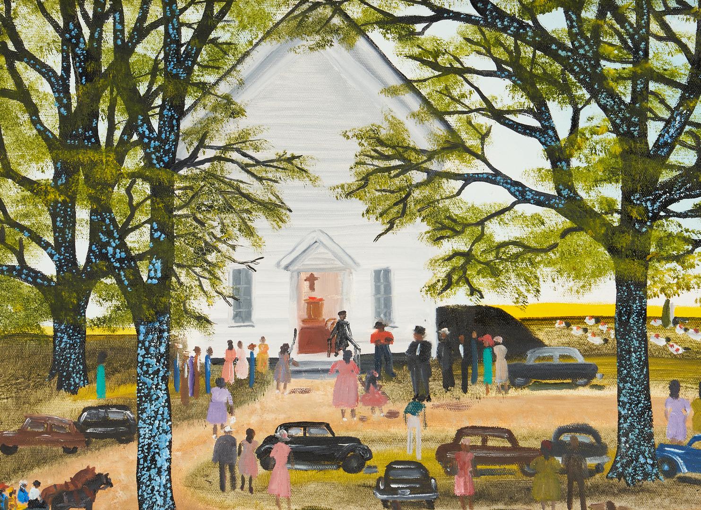 Lot 167: Helen LaFrance O/C, Church Picnic