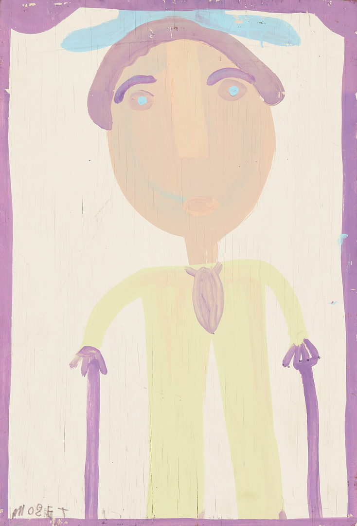 Lot 170: 2 Mose Tolliver Folk Art Paintings