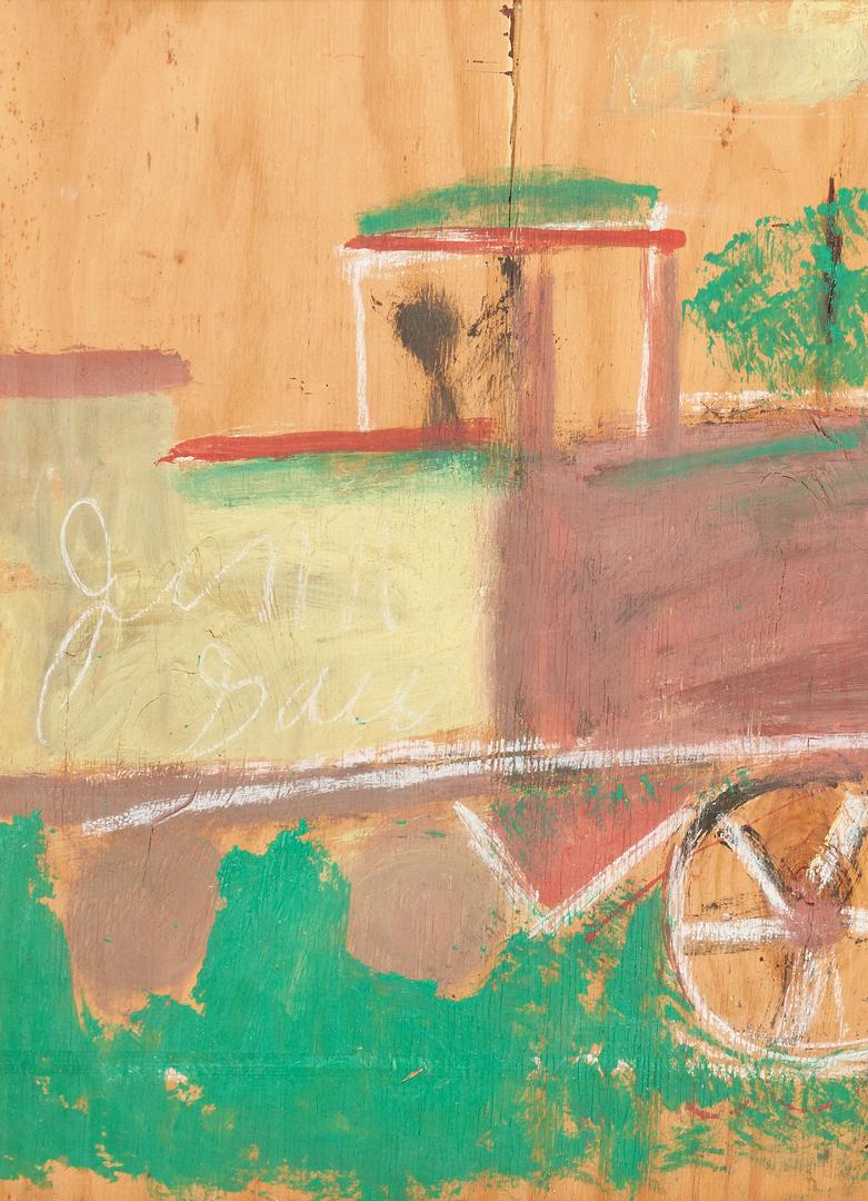 Lot 171: Large J.L. Sudduth Train Painting