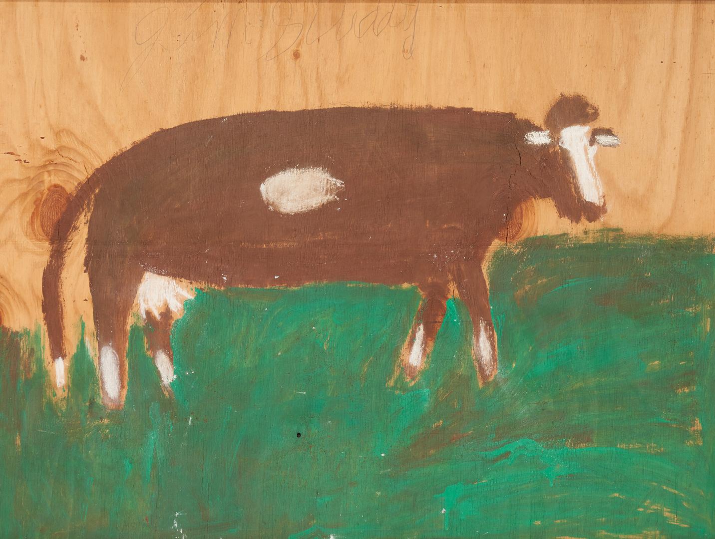 Lot 172: Large J.L. Sudduth Cow Painting
