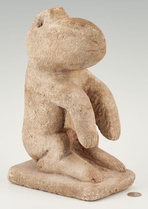 Lot 176: William Edmondson Limestone Critter Sculpture