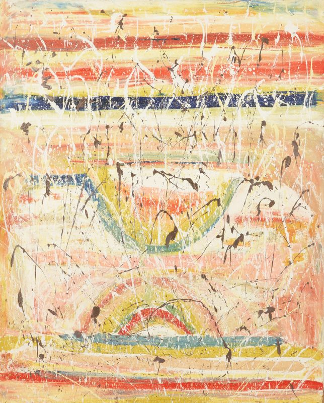 Lot 178: Beauford Delaney Abstract Oil on Canvas Painting