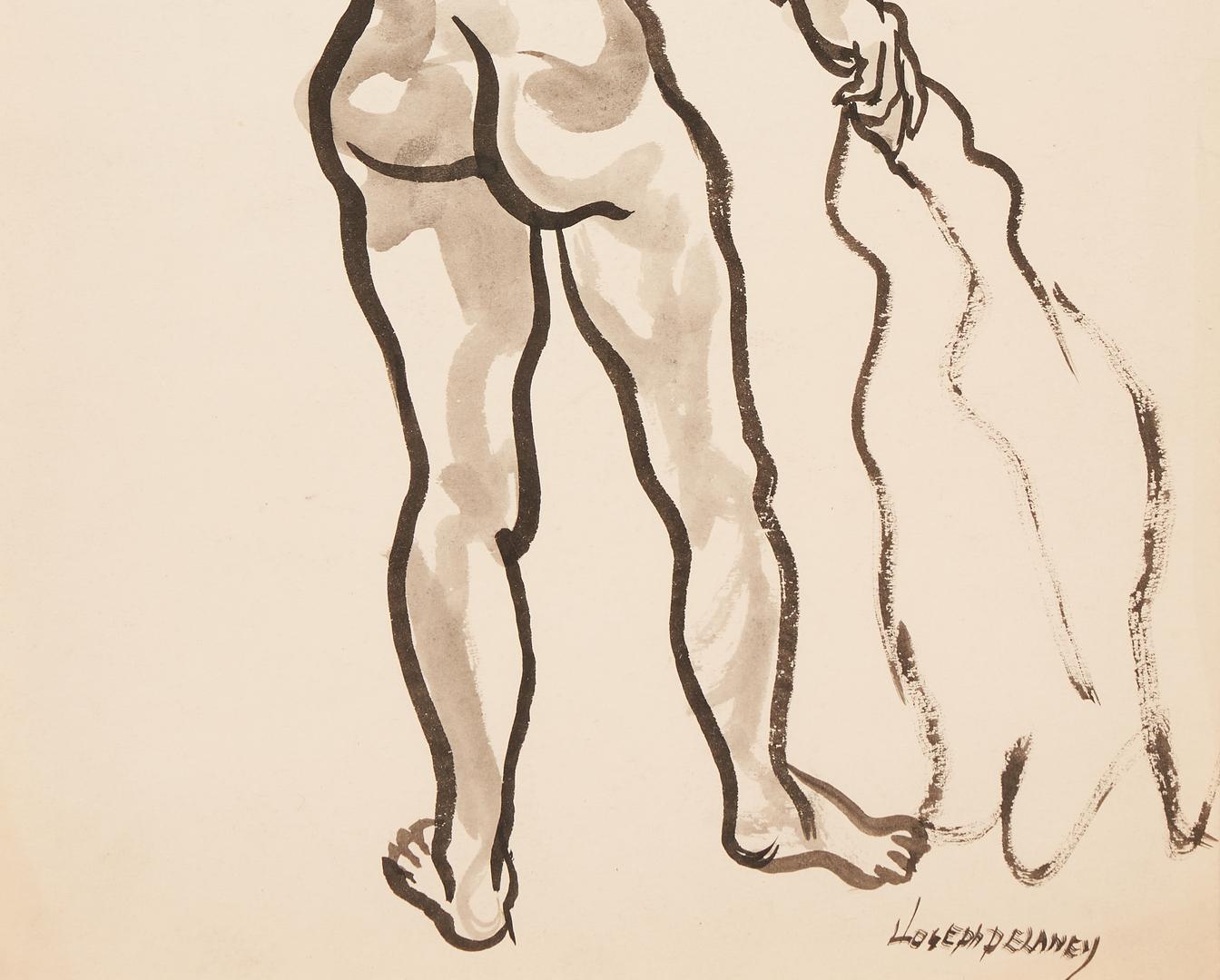 Lot 179: Joseph Delaney Nude Watercolor