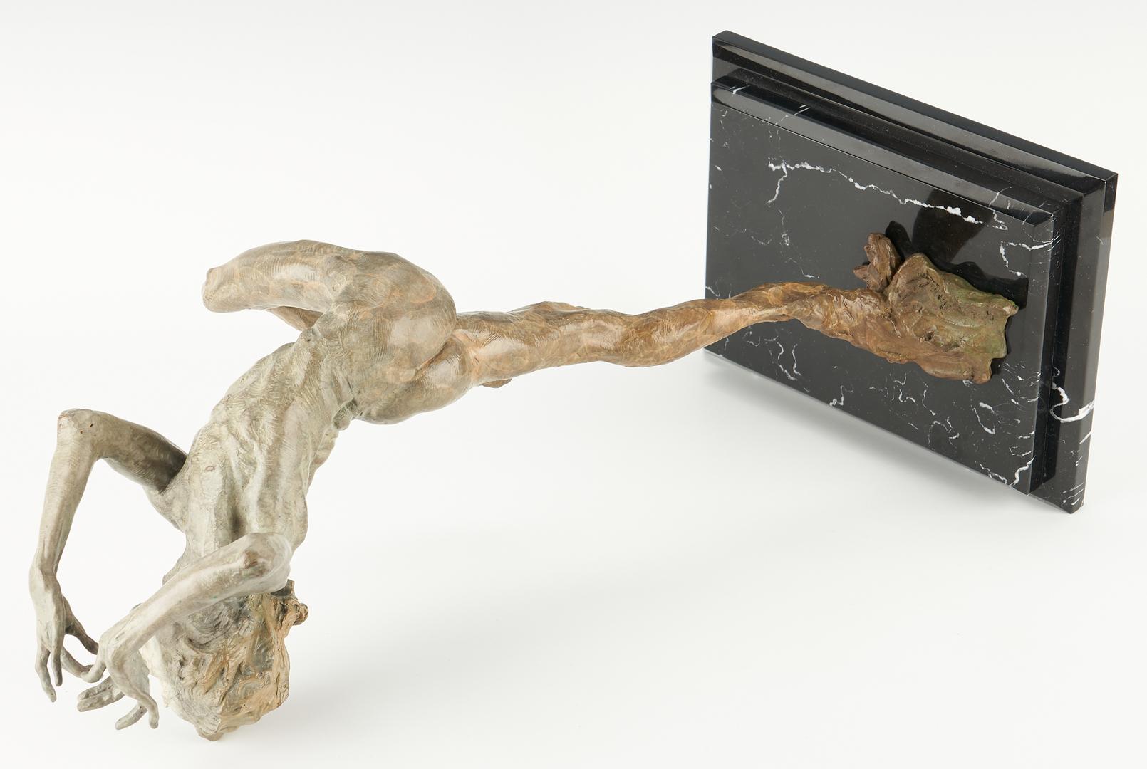 Lot 183: Richard MacDonald Patinated Bronze Sculpture, Flutist