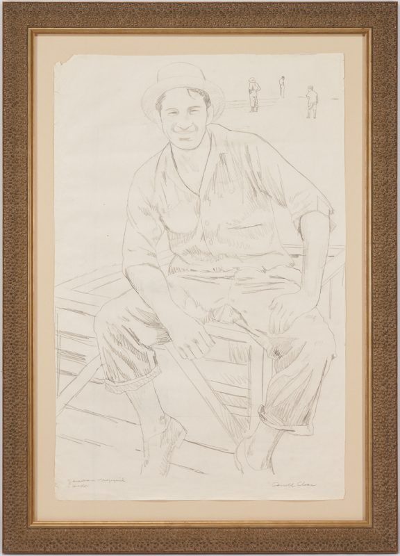 Lot 185: Large Carroll Cloar Double Sided Drawing