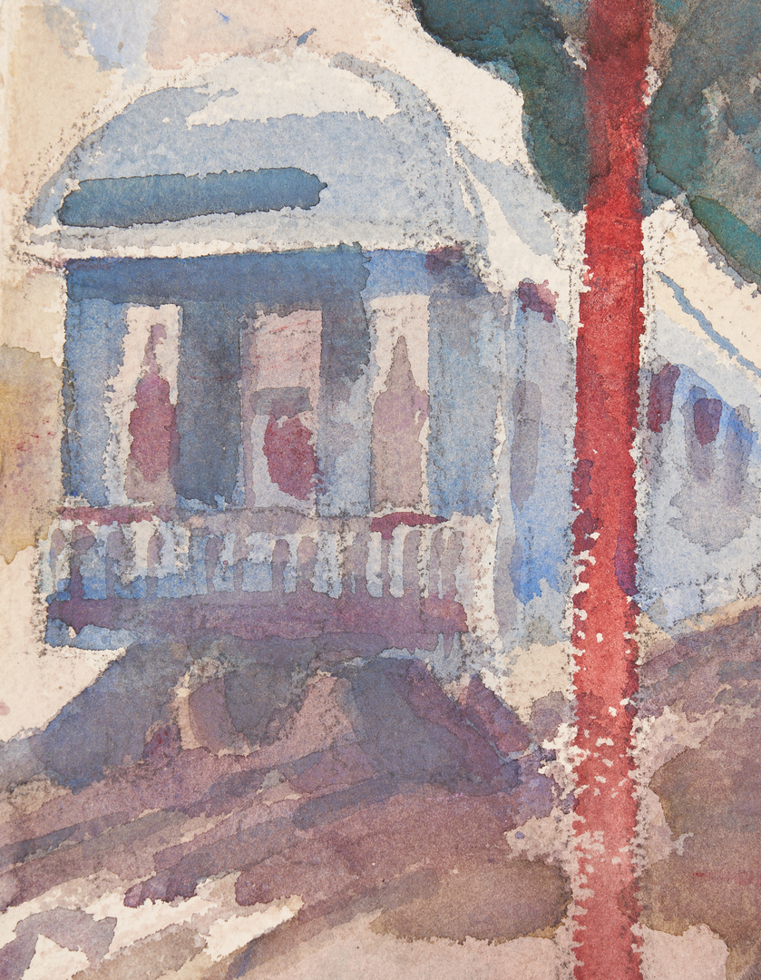 Lot 189: Carl Sublett Watercolor, Knoxville Train Station