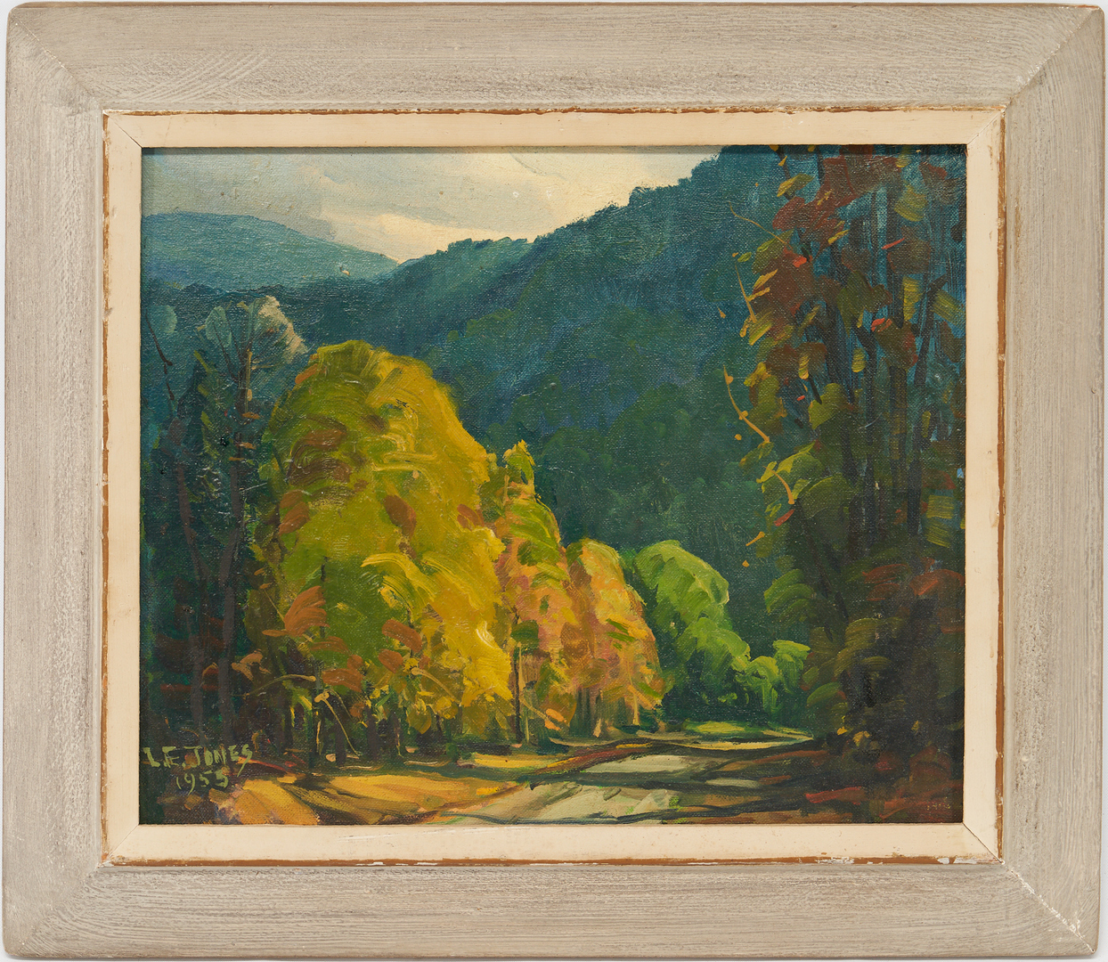 Lot 191: Louis E. Jones O/B Painting, A Burst of Sunlight in the Smokies